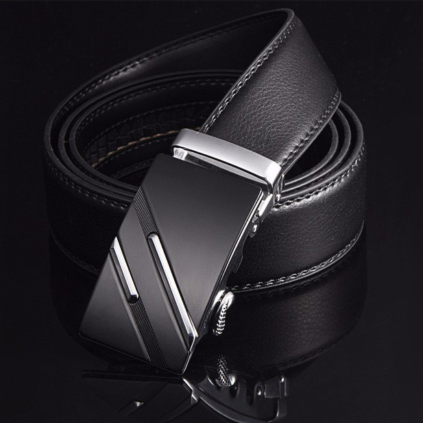 2020 Free Shipping Men's Fashion Genuine Leather Belts  For Men High Quality Metal Automatic Buckle Strap  Famous Brand Belt