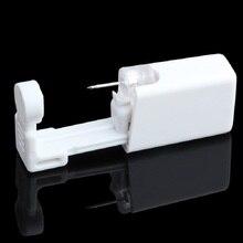 Стерилизованное одноразовое безопасное устройство Для Пирсинга Ушей в носу+ стерильный ободок, кристаллический гвоздик, студенческий Инструмент Для Пирсинга Ушей, детский ушной пистолет для ногтей