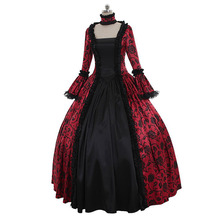 WEPBEL средневековый для женщин; Большие размеры Маскарад готический, викторианской эпохи Макси платье Винтаж кружево высокое качество Cos на Хэллоуин костюм для детей