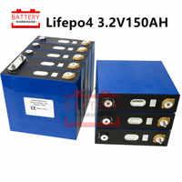 8 Uds 3,2 v 135AH 150ah Lifepo4 batería litio hierro fosfato célula no 100ah 120ah 24v 12V300AH para solar RV paquete EU US libre de impuestos