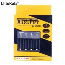 LiitoKala Lii L16340 3.6V 3.7V 4.2V 16340 şarj edilebilir Li ion pil şarj cihazı