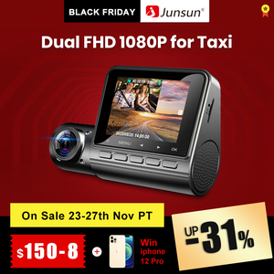 Junsun S799 New Dash Cam Front and Inside Dual Lens FHD 1080P Video Recorder GPS Tracker Parking Monitor Dashcam Camera for Taxi