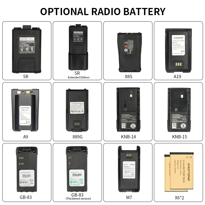 Various Types Of Walkie-talkie Batteries 5R 3107 GP328 M7 Special Radio Battery Walkie-talkie