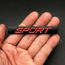 3d metal preto vermelho esporte carro tronco fender porta emblema emblema decalques adesivo