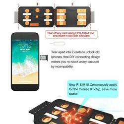 Universal R-SIM15 SIM Nano desbloqueado titular de la caja de la tarjeta con R-SIM Dongle programa de actualización para IOS13