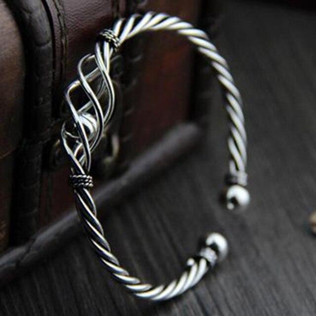 Купить женский винтажный браслет из серебра 100% пробы с плетением картинки