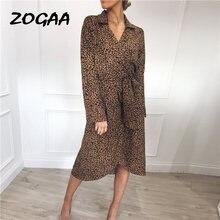 Платье женское шифоновое с леопардовым принтом модный пляжный