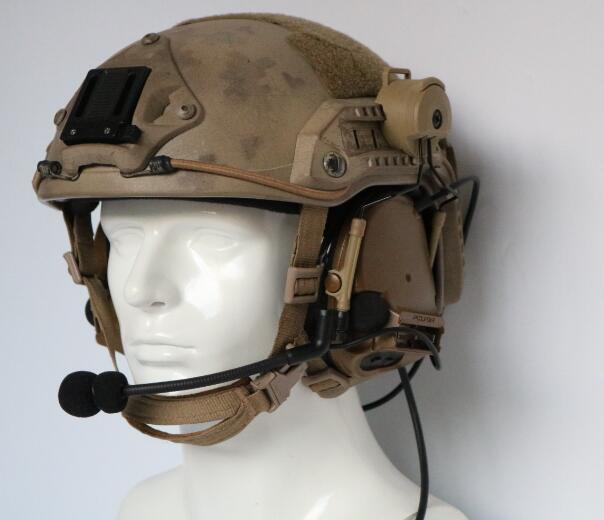 Image 4 - TAC SKY COMTAC III helmet fast track bracket version single side silicone earmuff version noise reduction pickup earphone CBEar Protector   -