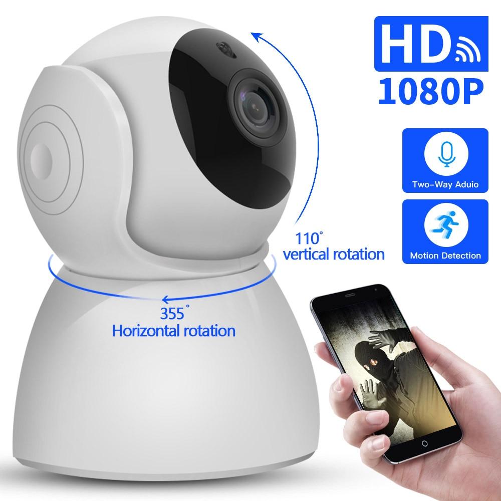 IP Camera baby monitor 360 Degrees Pan Tilt Rotation cctv Wifi IP Camera 2Mp 1080P Full HD LAN Port IR Night Vision interior(China)