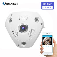 Vstarcam Wifi IP Panoramic Camera 3MP 360 Degree Camara IP Fisheye 1536P 3D VR Video IP Cam Wireless Video Surveillance Camera(China)