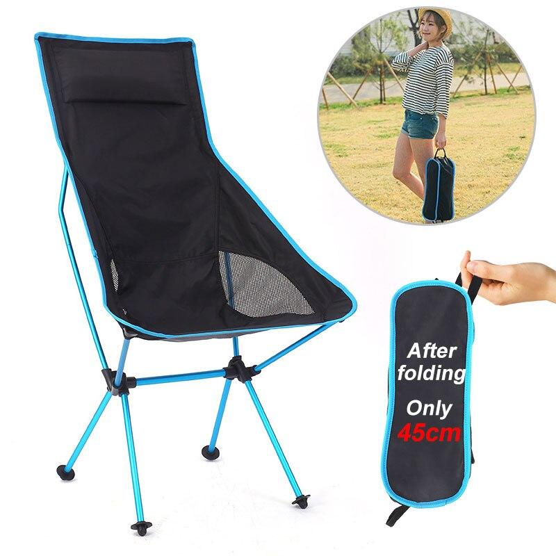 עומס מרבי של 150kg חיצוני נייד מתקפל כיסא קמפינג נסיעות דיג כיסא Ultralight טרקלין כיסא стул для кемпинга 캠핑의자