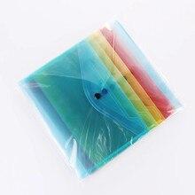 5 pçs/set A5 Pastas de Plástico Transparente Saco de Arquivo de Documento Segurar Sacos Pastas Arquivamento Escritório Escola Suprimentos De Armazenamento De Papel
