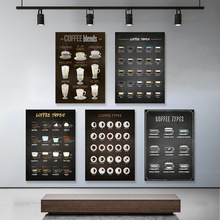 Canvas HD Printed Coffee Types Posters Wall Art Vintage Home Decor Minimalist Paintings Modular Nordic Pictures For Living Room