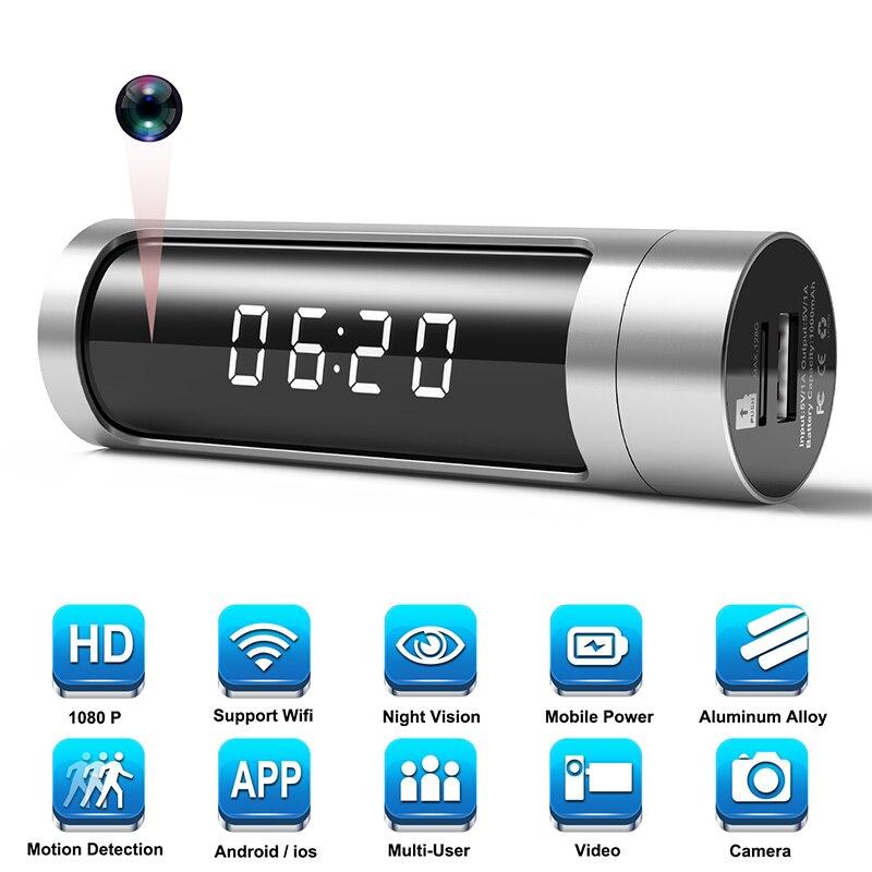 Full HD 1080 Wifi часы мини камера ночного видения P2P IP секретная камера Обнаружение движения микро DVR камера беспроводная безопасность мини камера