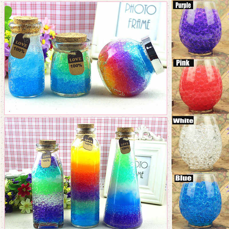 200 Stks/zak Crystal Multi Kleuren Crystal Bodem Mud Grow Up Water Kralen Leuke Hydrogel Magic Gel Jelly Ballen Voor Vaas decor