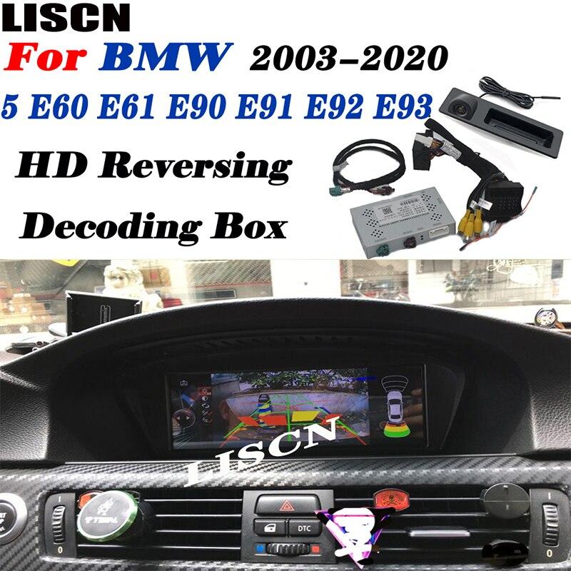 Car Reverse For BMW 5 E60 E61 E90 E91 E92 E93 2003~2020 NBT EVO CIC CCC Rear Back Up Camera interface Original Display Decoder(China)