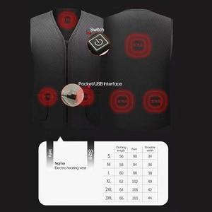 Image 5 - USB Инфракрасный жилет с подогревом уличная куртка с подогревом для женщин и мужчин зимняя куртка электрическая теплая одежда жилет для спорта и туризма