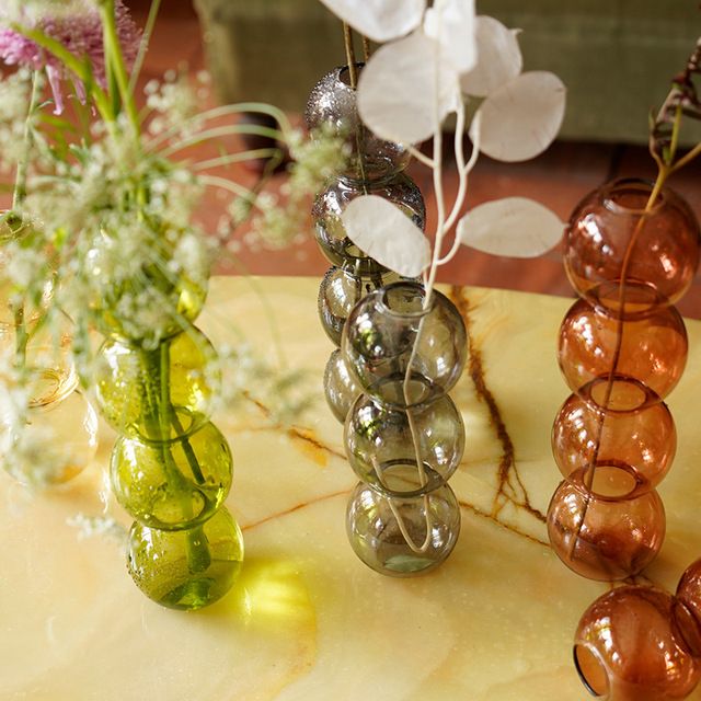 O.RoseLif Crystal Ball Bubble Glass Vases Flower Arrangement Hydroponics Ball Floral DIY Art Flower Ware Bar Office Home Decor 2
