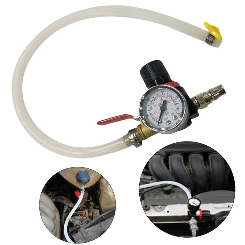 Car Cooling Radiator Pressure Leak Tester Tank Fuel Tank Detector Meter Tool
