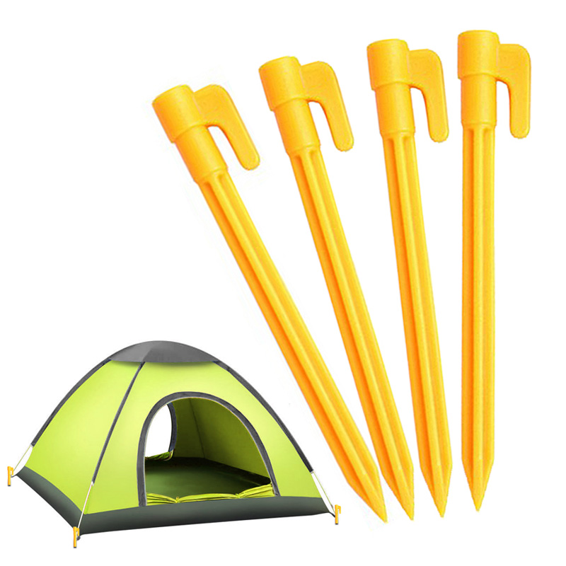 2020 Practial 4PCS/Set Outdoor Travel Beach Mat Camping Tent Fixed Pegs Tent Accessories Fixed Nails Durable14cm X 2cm