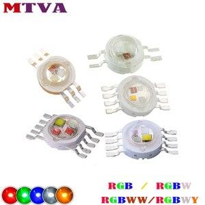 Dioda LED dużej mocy RGB / RGBW 3W10W20W30W50W100W czerwona zielona niebieska biała żółta dioda 3 10 20 30 50 100 W Watt COB do lampy