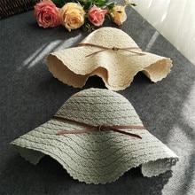 Summer Foldable Cotton Beach Bow Sunhats for Fashion Elegant Beach Sun Hat Ladies Lace Hollow Sunscreen Ventilate Straw Hat