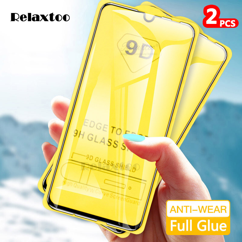 2pcs 9D Curved Tempered Glass For Samsung Galaxy A10 A20 A30 A40 A50 Protective Film On A 10 20 30 40 50 Screen Protector Glas