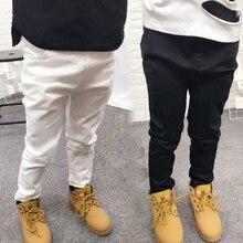 캐주얼 소년 바지 코튼 십대 학교 소년 흰색 검은 바지 봄 어린이 의류 십대 옷 소년 8 ~ 12 년 2020
