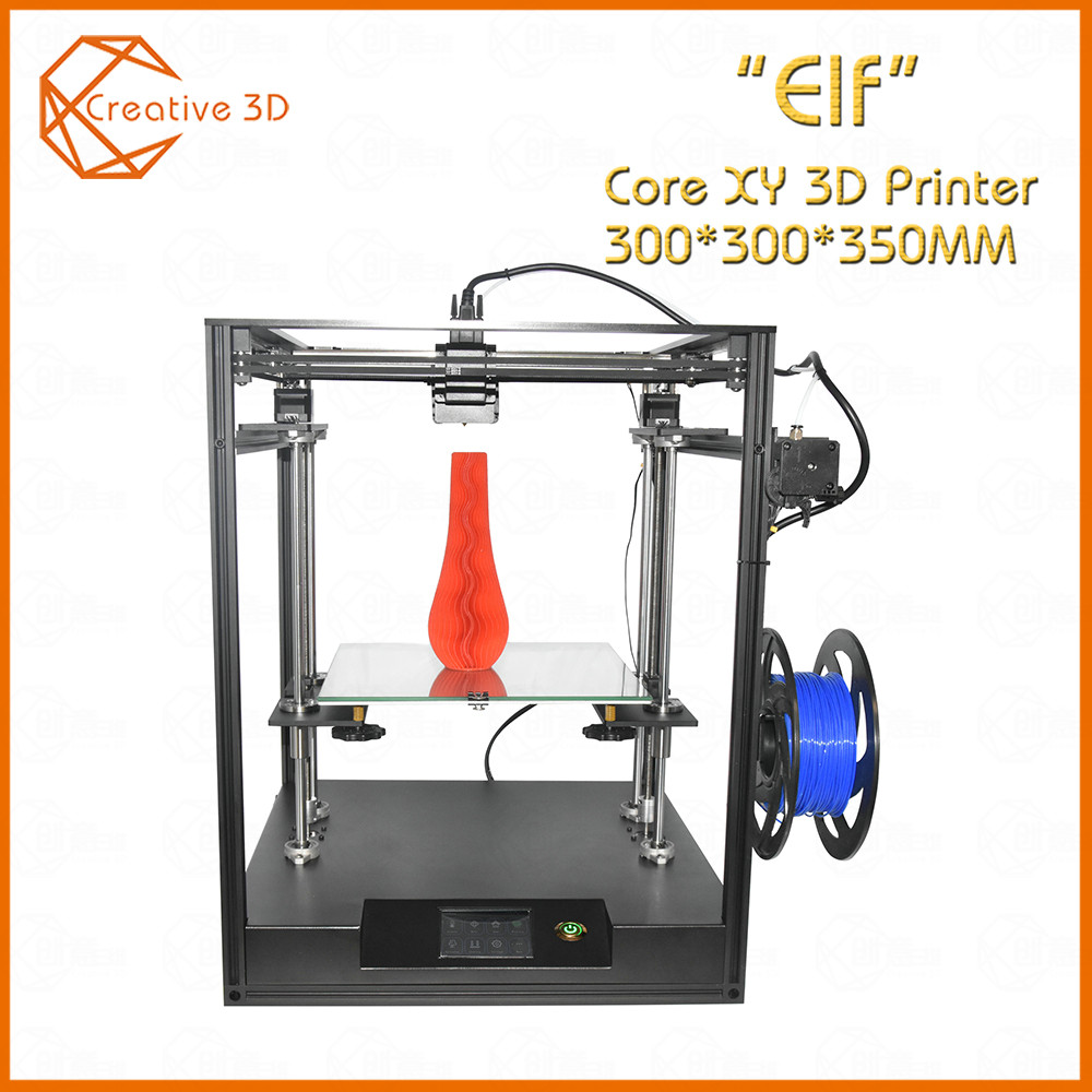 2019 High-precision Sapphire S Aluminium Profile Frame 3D Printer Print DIY  Kit Area CoreXY System Big Area 200*200mm Core XY