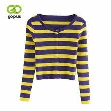 Кардиган goplus женские вязаные свитера в полоску 2021 длинные