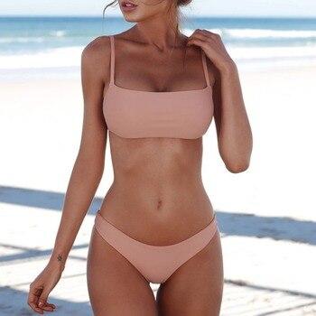 2021 New Sexy Push Up Unpadded Brazilian Bikini Set Women Vintage Swimwear Swimsuit Beach Suit Biquini bathing suits 5