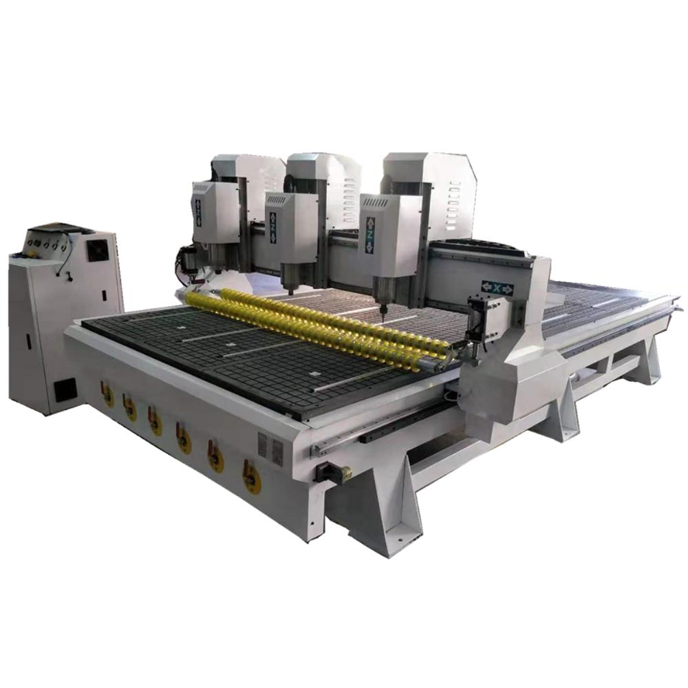 New 3 Heads Cnc Milling Machine 1530 CNC Router With Usb Port, Roller Clamp Cnc Engraving Machine For PCB Wood Plastic Carving
