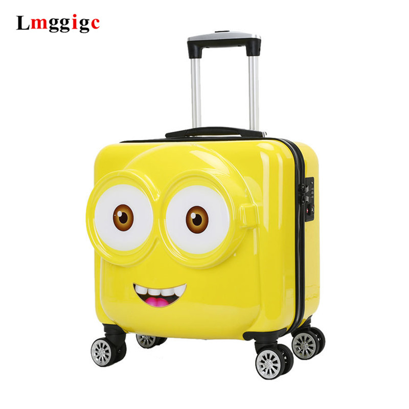 Kids Cabin Suitcase Bag,Child's Universal Wheel Trolley Case,Portable Travel Luggage,Gift For Children,18