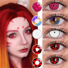 UYAAI 2Pcs/Pair Cosplay Anime Eyes Lenses Sharingan Contact Lenses for eyes Colored Lenses for Eye Makeup Multicolored Lenses