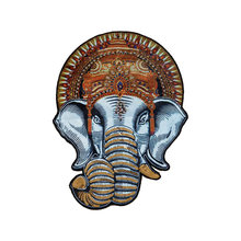 Beaded DIY Embroidered Handmade Beaded Elephant Clothes Patch Printed Embroidered Cloth Stickers Parches Iron on Patches