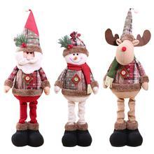 Рождественские украшения для куклы ручной работы, куклы со снеговиком и лосем, подвесные украшения для дома, Рождественские елки, вечерние Мягкие плюшевые украшения