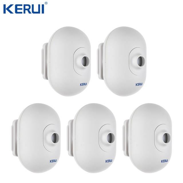 5 sztuk KERUI P861 Mini wodoodporna PIR zewnętrzny czujnik ruchu dla KERUI bezprzewodowy Alarm bezpieczeństwa System antywłamaniowy