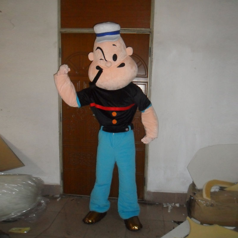 Popeye mascot costume cartoon character in Mascot from Novelty Special Use
