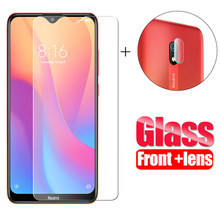2 in 1 Tempered Glass For Xiaomi Redmi Note 8 pro 7 pro 8 8A xiomi Note 8t Screen Protector Glass Film for Redmi Note 8 pro glas(China)