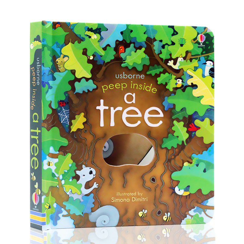 Peep Inside A Tree English Educational 3D Flap Picture Books Baby Children Reading Book