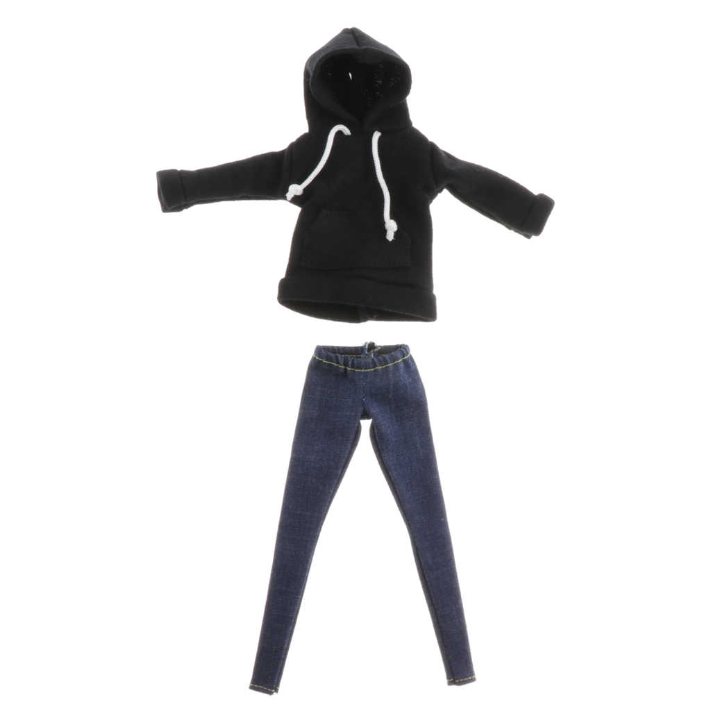 BJD Costume Hoodie with Short Pants for 1//6 Blythe Ball Joint Dolls Accessories