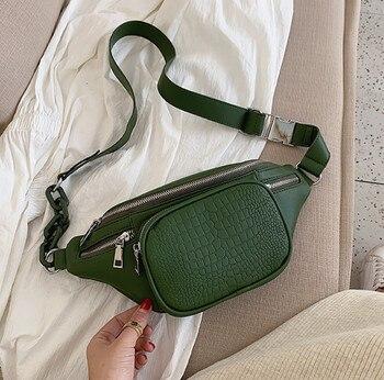Stone Pattern PU Leather Waist Bag  2