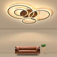Modernas Luzes de Teto Lâmpada LED Para Sala de estar sala de Estudo Quarto Branco cor preta superfície montada Teto Lâmpada Deco