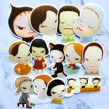 13Pcs/Lot Nara Sleepwalking Dolls Stickers For Car Laptop Motorcycle Skateboard Luggage Decal Car Styling waterproof image