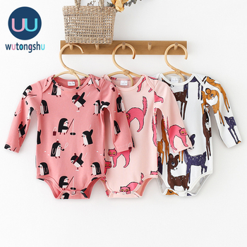 Baby Onesie Newborn Animal Boy Girls Rompers Baby Girls Clothes Long Sleeve 0-24M Cotton Newborn Baby Clothes Christmas newborn boys girls rompers toddler turn down collar long sleeve casual romper baby cotton white pink clothes baby onesie 6 24m