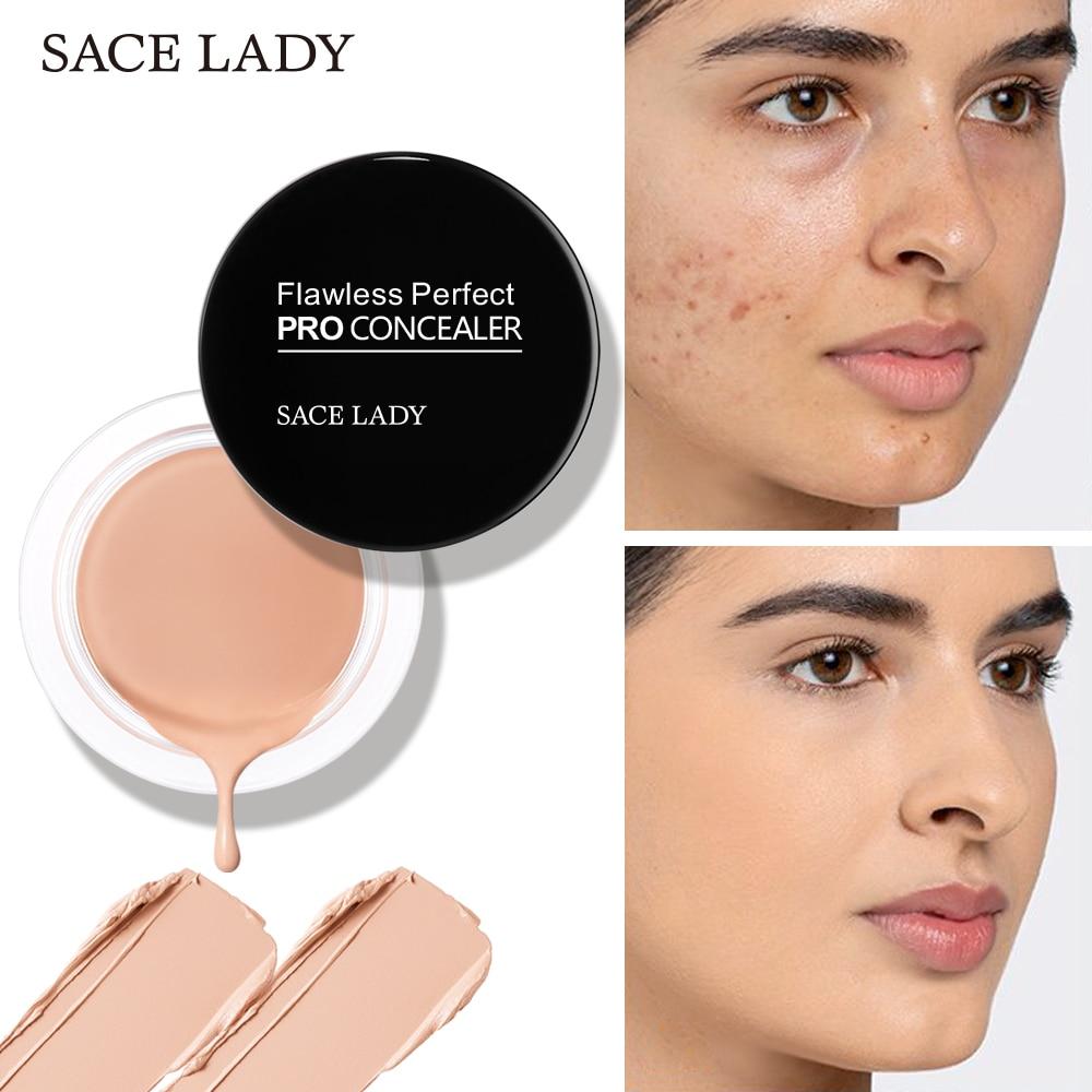 SACE LADY 6 Color Full Cover Base Make Up Primer Waterproof Concealer Palette Maquillag Eye Dark Circles Cream Face Corrector