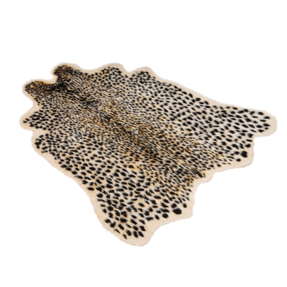 1Pc Leopard Printed Rug Cow Leopard Tiger Printed Cowhide Faux Skin Leather NonSlip Antiskid Mat 94x100CM Animal Print Carpet
