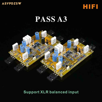 HIFI PASS A3 Single-ended Class A power amplifier board 30W+30W Support XLR input