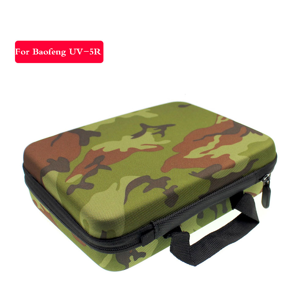 Hunting Bag For BAOFENG UV-5R UV-5RA DM-UV5R TYT TH-F8 Walkie Talkie Travel Case Camouflage Gift Bag Two Way Radio Case Carring