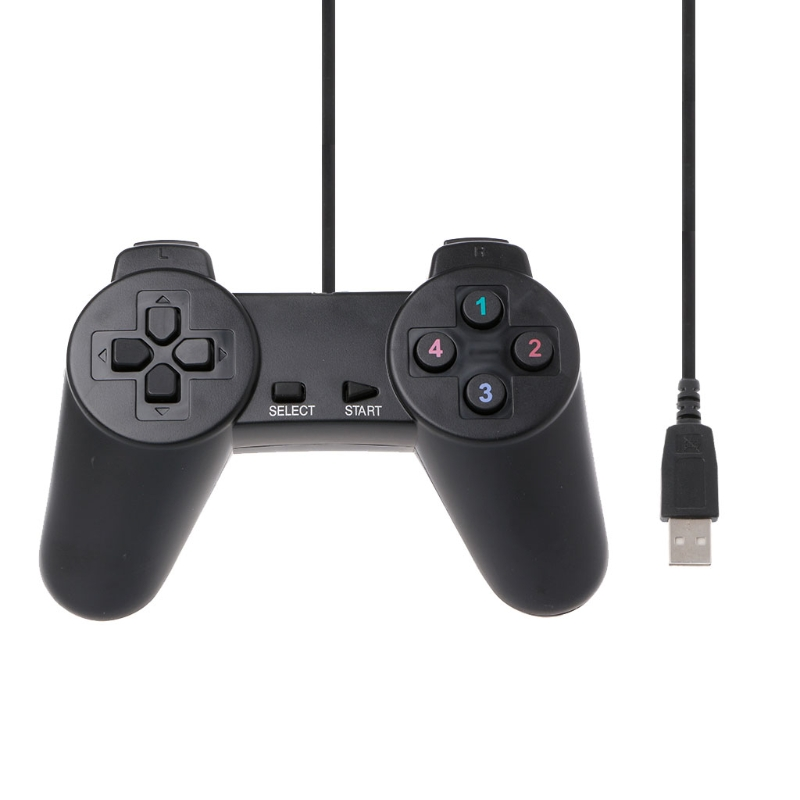 USB 2.0 Wired Multimedia Gamepad Gaming Joystick Joypad Wired Game Controller For Laptop Computer PC image